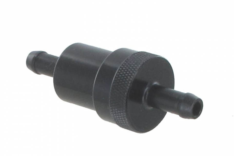 Aluminum Fuel Filter 8mm Black