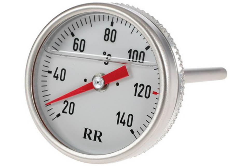Oil Temperature Gauge, White