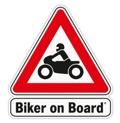 Biker on Board Sticker